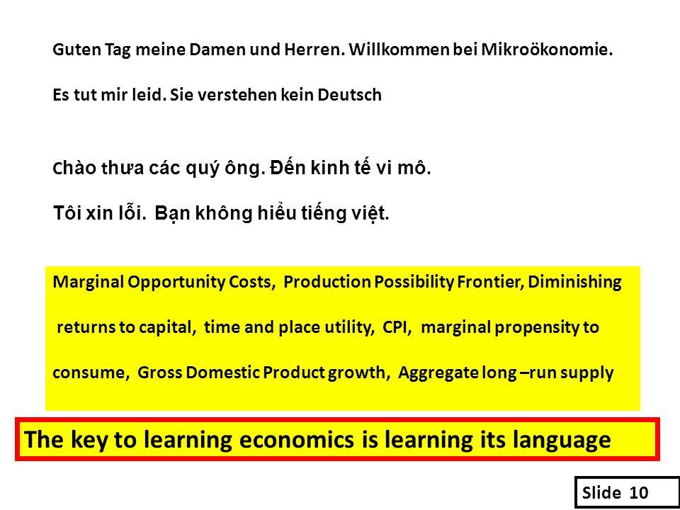 Guten Tag meine Damen und Herren. Willkommen bei Mikroökonomie.