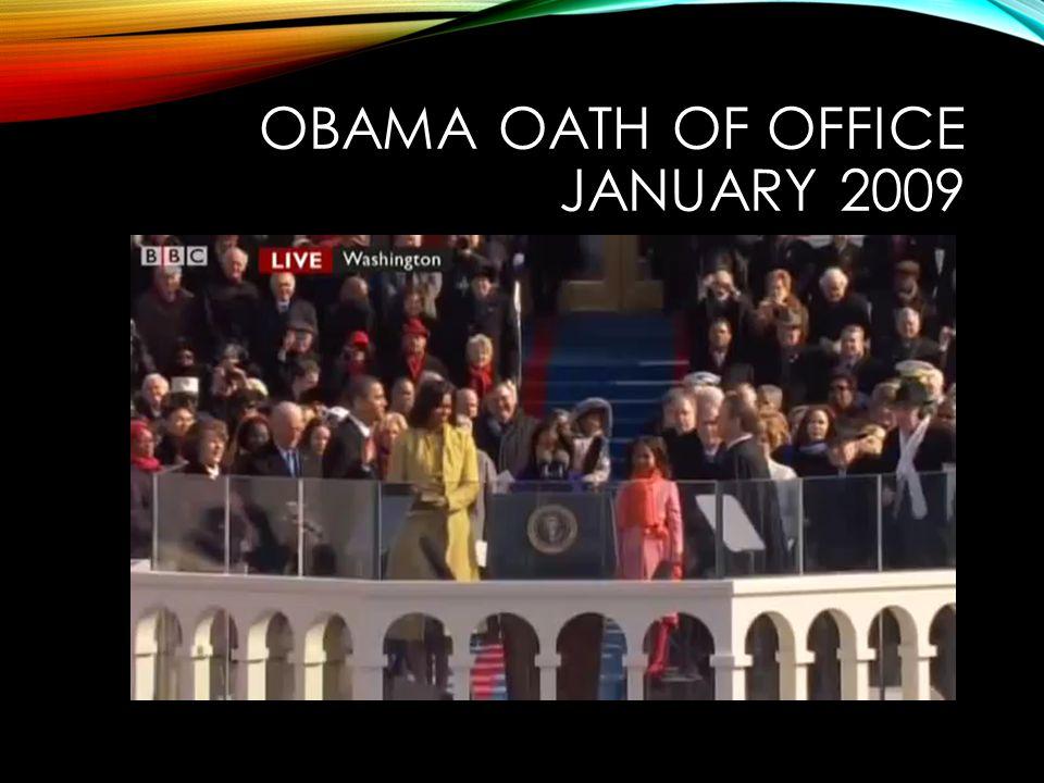 OBAMA OATH OF OFFICE JANUARY 2009