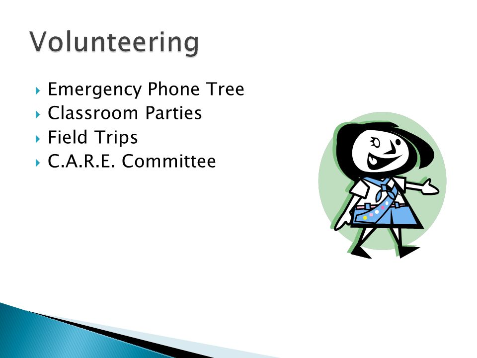  Emergency Phone Tree  Classroom Parties  Field Trips  C.A.R.E. Committee