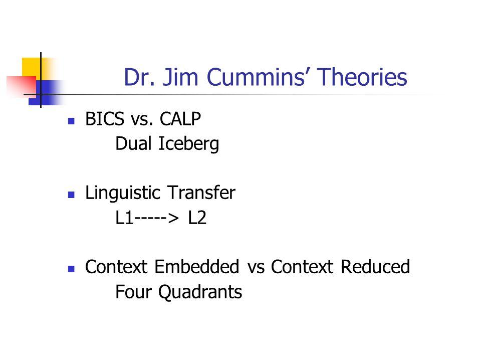 Dr. Jim Cummins' Theories BICS vs.