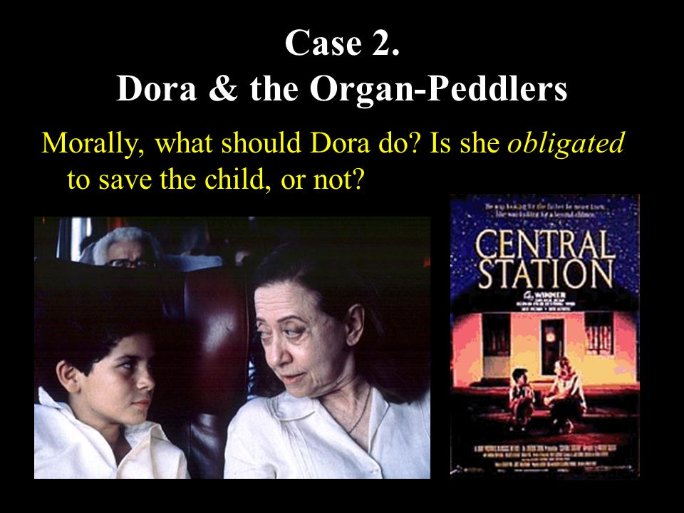 12 Case 2. Dora & the Organ-Peddlers Morally, what should Dora do.