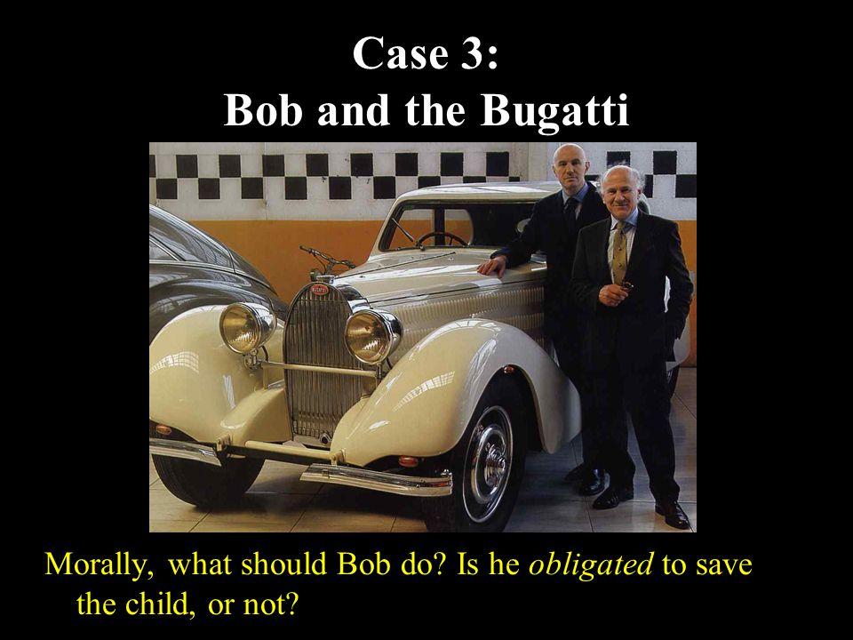 13 Case 3: Bob and the Bugatti Morally, what should Bob do.