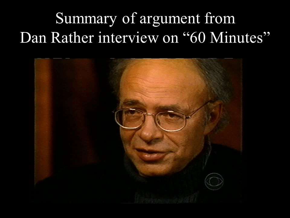 19 Summary of argument from Dan Rather interview on 60 Minutes