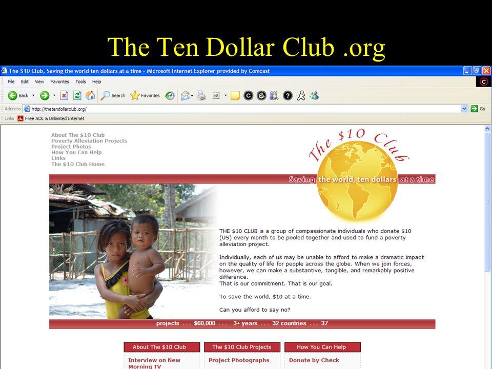 38 The Ten Dollar Club.org