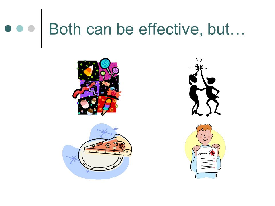 Both can be effective, but…