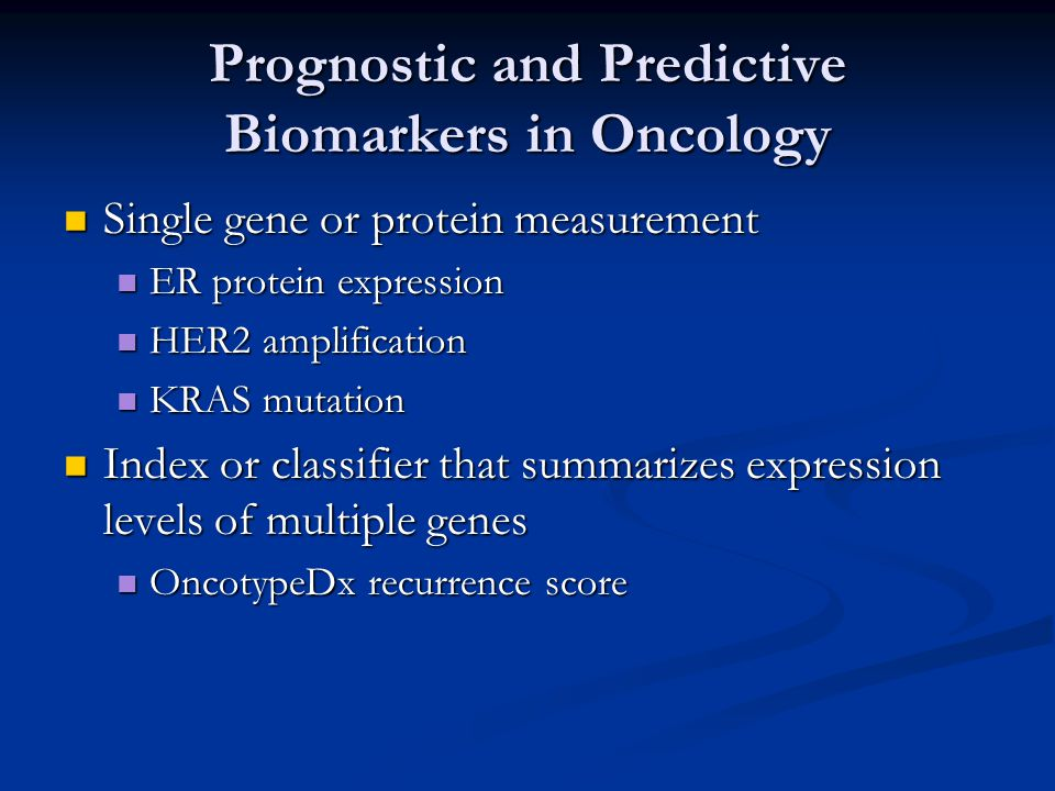 For establishing medical utility of prognostic and predictive tests, fully prospective trial designs are desirable For establishing medical utility of prognostic and predictive tests, fully prospective trial designs are desirable It is often not possible, however, to identify the appropriate predictive marker for a drug prior to the conduct of the pivotal trials of that drug It is often not possible, however, to identify the appropriate predictive marker for a drug prior to the conduct of the pivotal trials of that drug It is often not feasible or ethical to conduct prospective RCT's for validating predictive markers of approved drugs It is often not feasible or ethical to conduct prospective RCT's for validating predictive markers of approved drugs It is very expensive and time consuming to conduct prospective trials to evaluate prognostic markers that indicate withholding standard chemotherapy regimens from good risk patients It is very expensive and time consuming to conduct prospective trials to evaluate prognostic markers that indicate withholding standard chemotherapy regimens from good risk patients