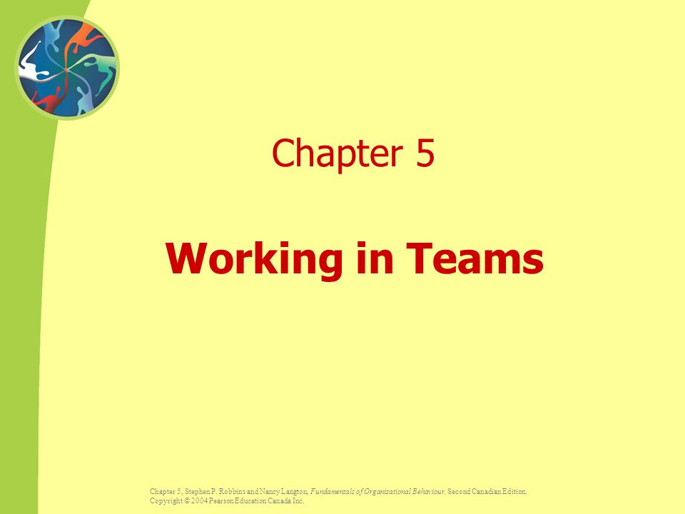 Chapter 5, Stephen P.