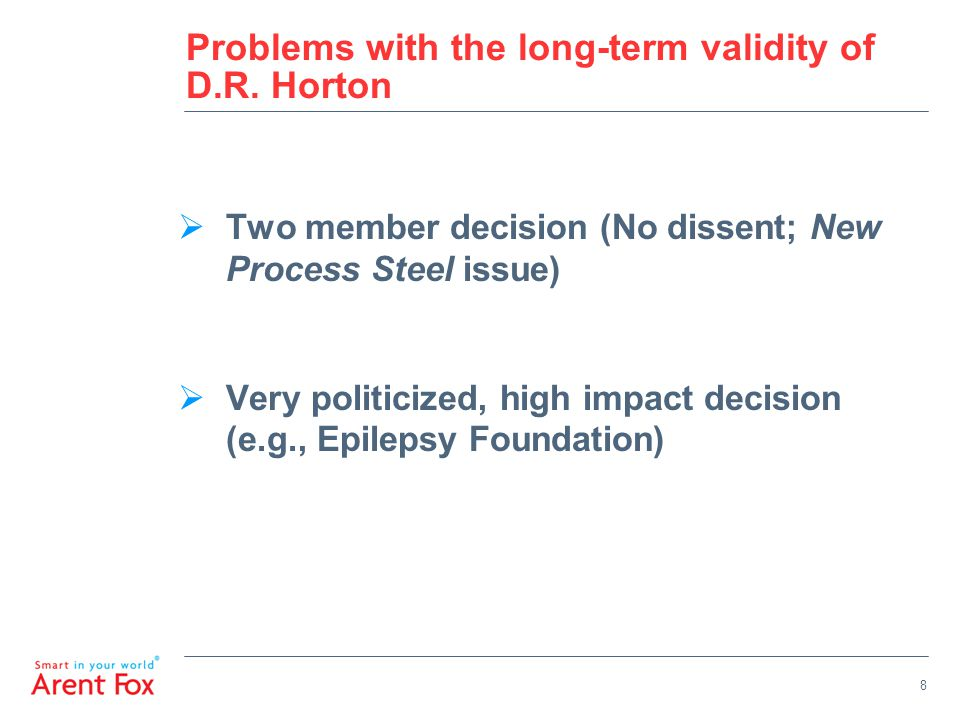 9 Problems with the long-term validity of D.R.