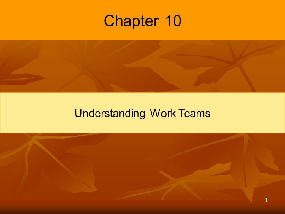 1 Chapter 10 Understanding Work Teams