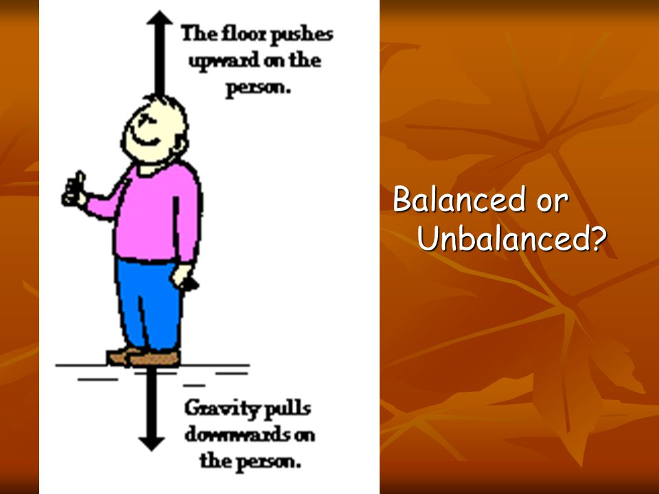 Unbalanced Forces They are considered to be unbalanced forces.
