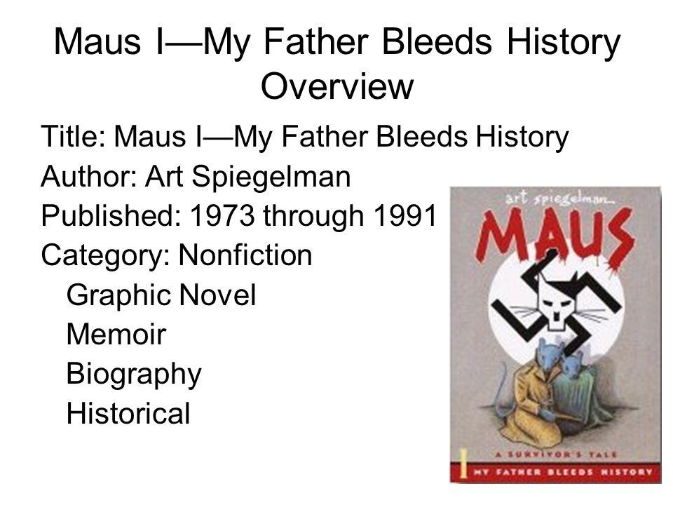 Maus I My Father Bleeds History Art Spiegelman Born in 1948 in Stockholm, Sweden, Art Spiegelman is a naturalized U.S.