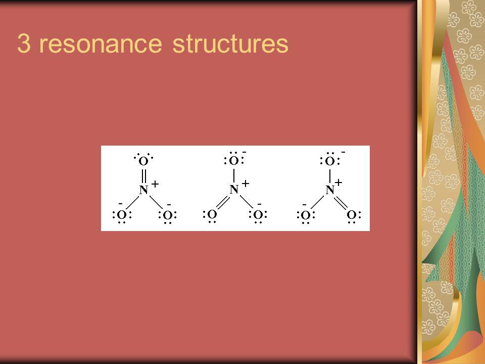 3 resonance structures