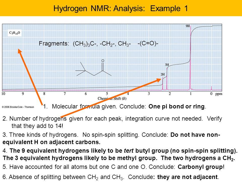 Example 2, C 3 H 6 O 1.Molecular formula  One pi bond or ring 2.