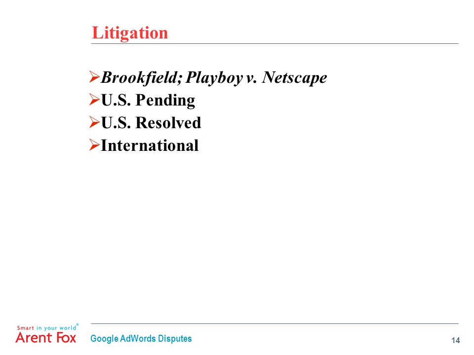 Litigation  Brookfield; Playboy v. Netscape  U.S.