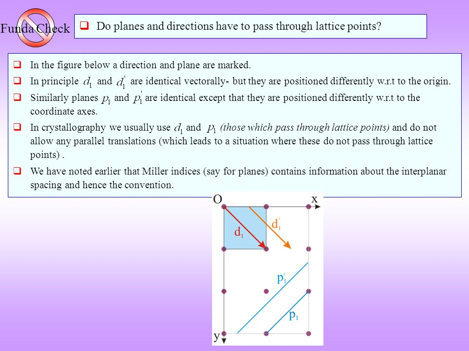  In the figure below a direction and plane are marked.  In principle and are identical vectorally- but they are positioned differently w.r.t to the