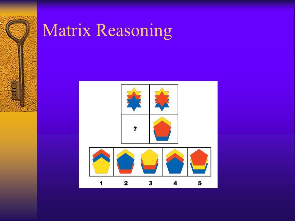 Matrix Reasoning