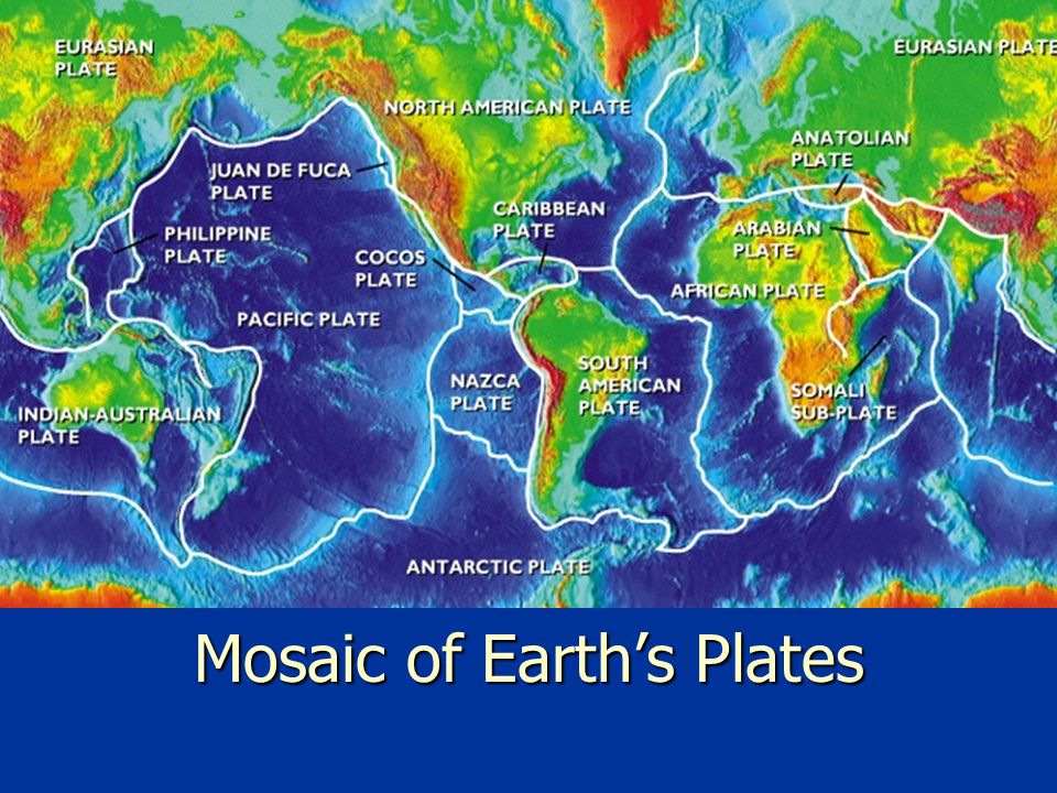 Mosaic of Earth's Plates