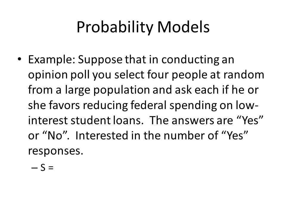 Intuitive Probability An is an outcome or a set of outcomes of a random phenomenon.