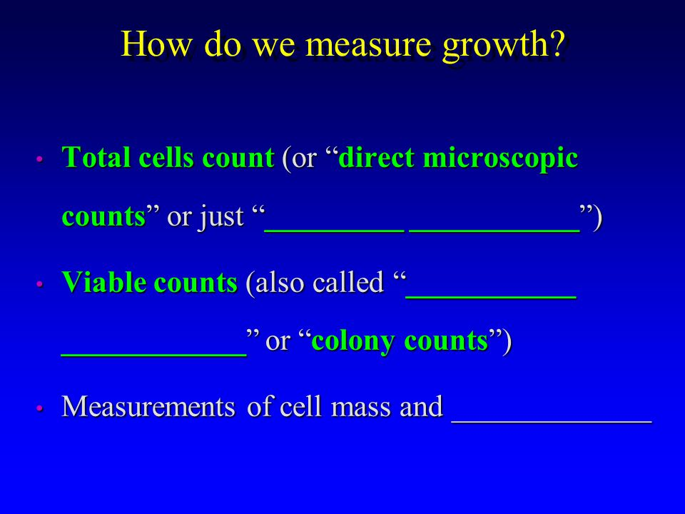 How do we measure growth.