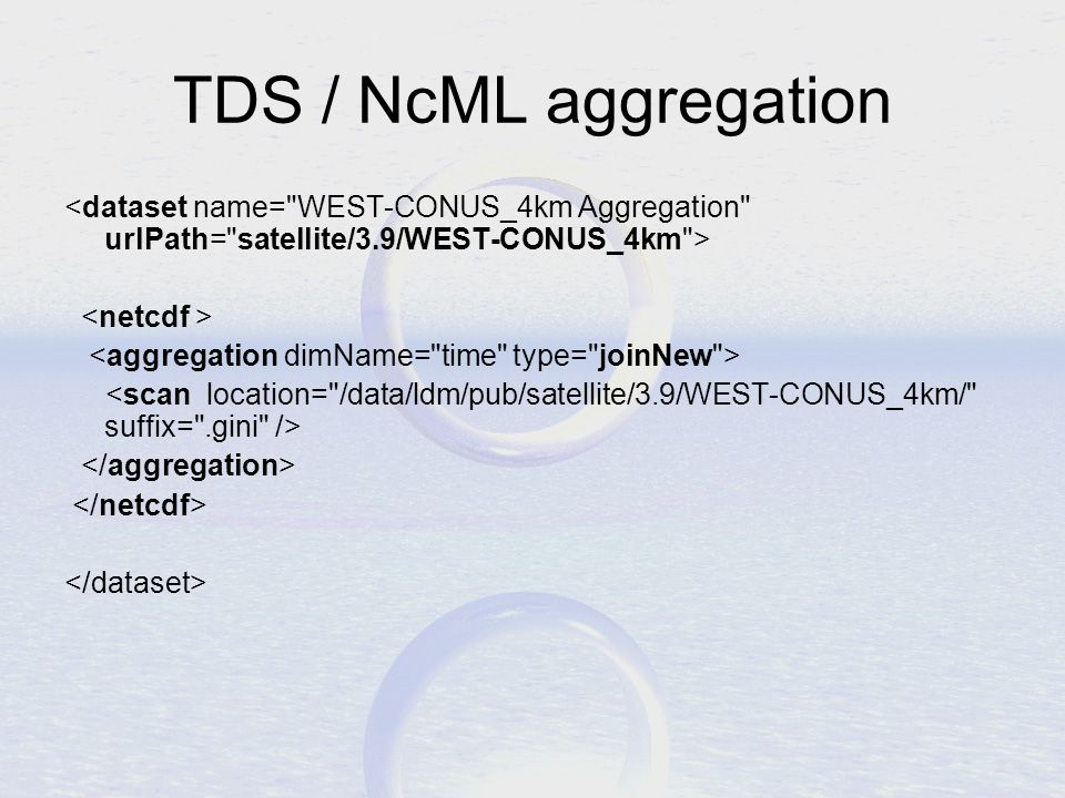TDS / NcML aggregation