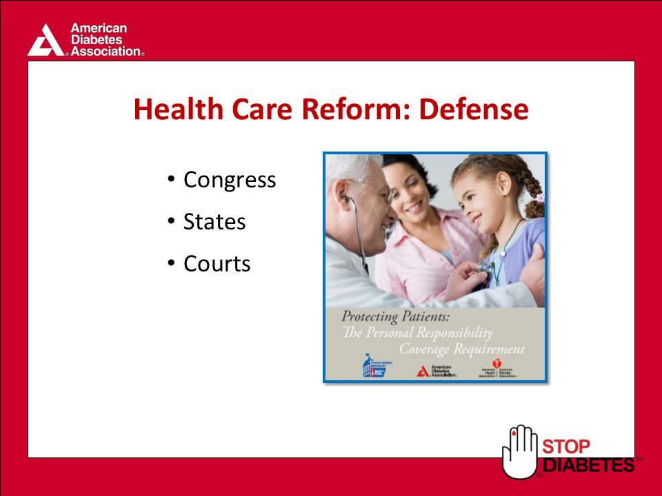 SM Health Care Reform: Defense Congress States Courts