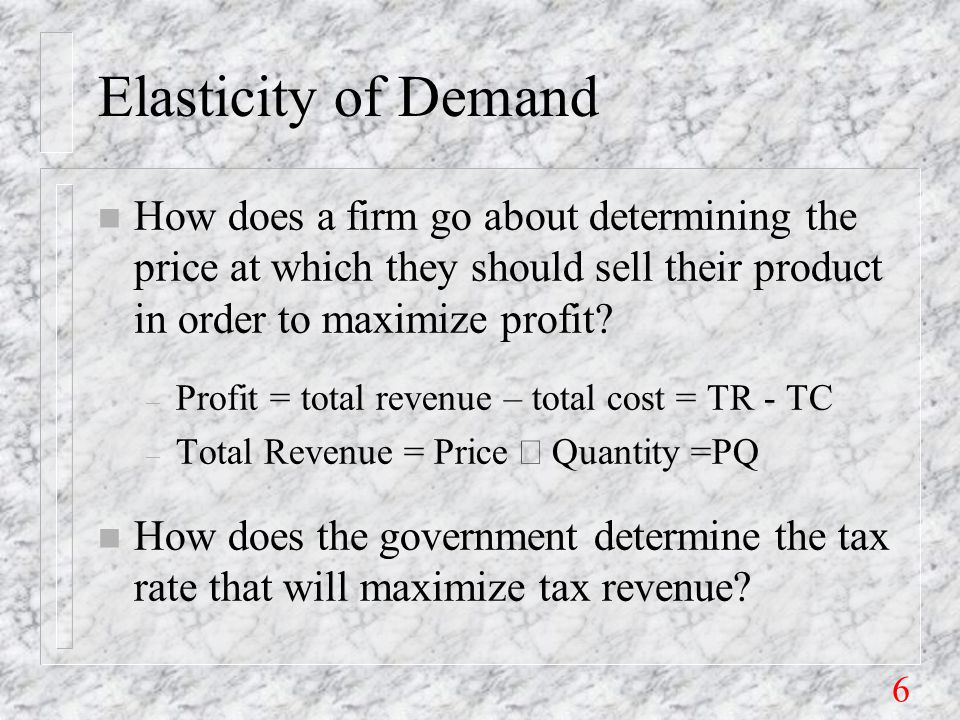 77 Legal incidence on seller: n Add the tax to Supply: P= -3+2Q+10=7+2Q n Solve for new quantity: – 7 + 2Q n = 42 - 3Q n e s >1 – 5Q n = 35 – Q n = 7 pints per day (| e d |=1 if Q=7.) n Solve for gross & net price: – P gross = 42 - 3Q n = 42 - 21 = $21 per pint.