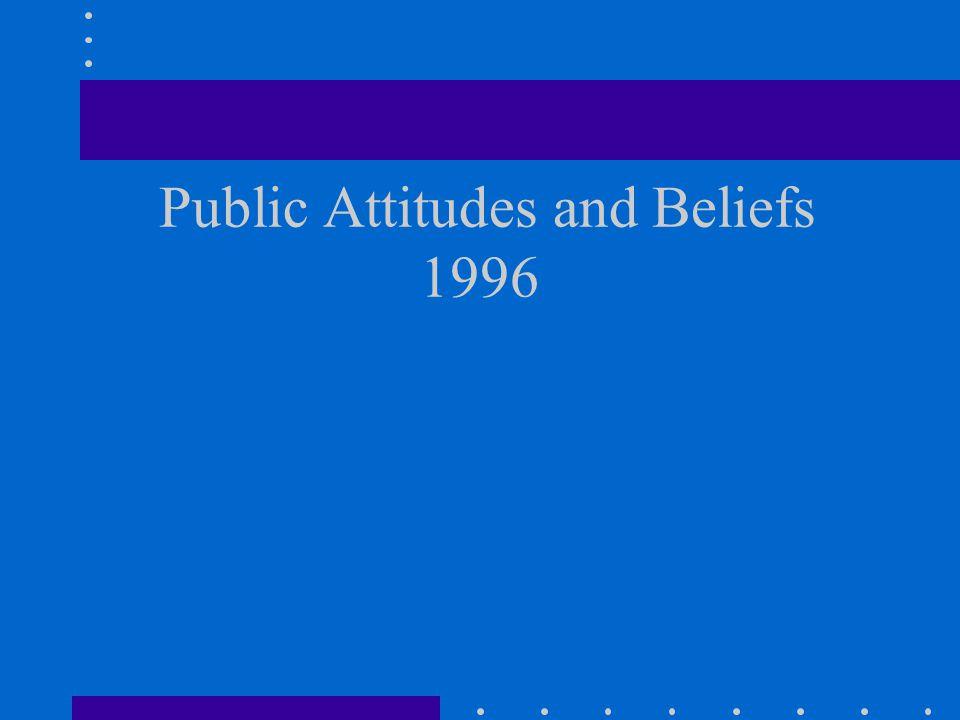 Public Attitudes and Beliefs 1996