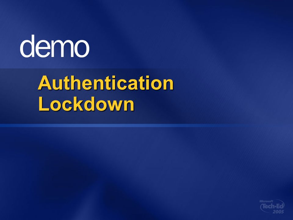 Authentication Lockdown