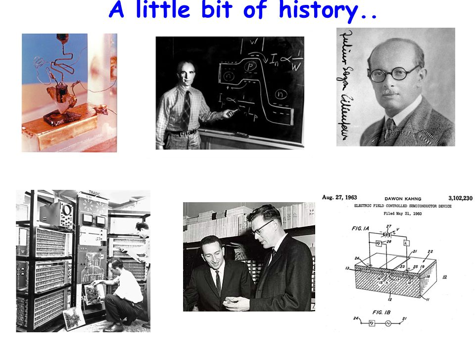 ECE 663 A little bit of history..