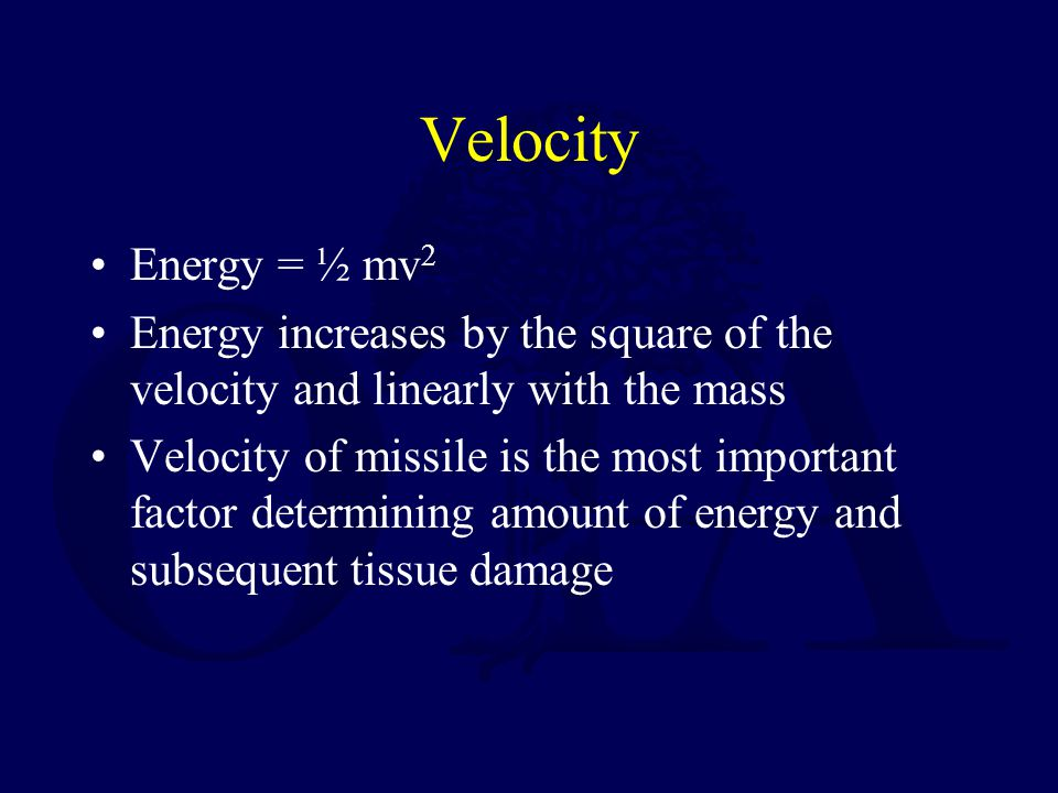 Cavitation If the path of the bullet is short –Bullet may exit as degradation of the energy is beginning to increase secondary to yaw and deformation of the bullet –Large exit wounds