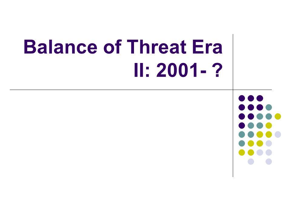 Balance of Threat Era II: 2001-