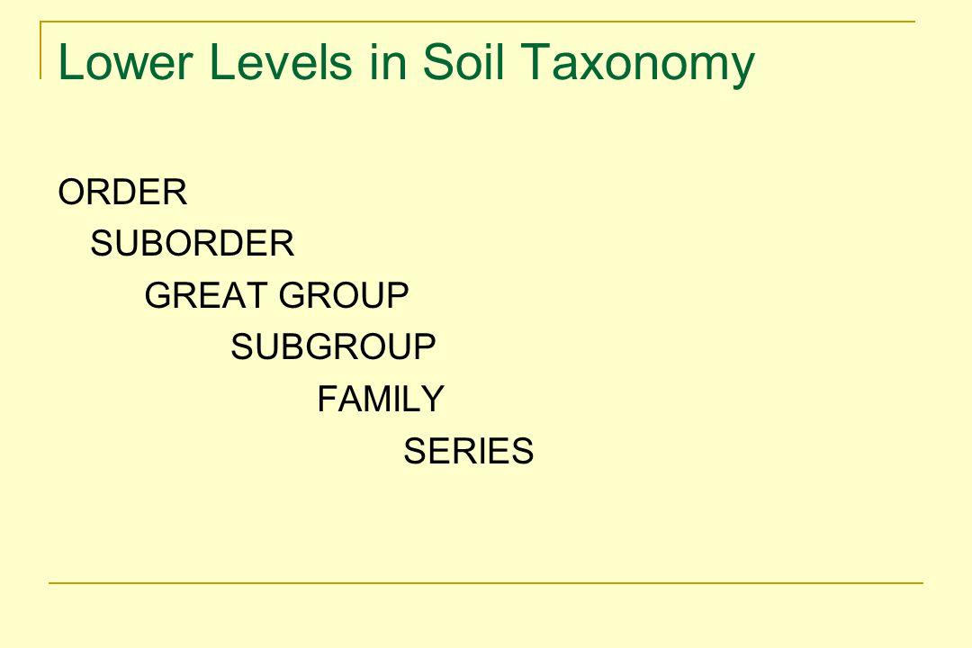 Soil Temperature Classes Mean annual soil temperature estimated by adding 1 o C to mean annual air temperature.