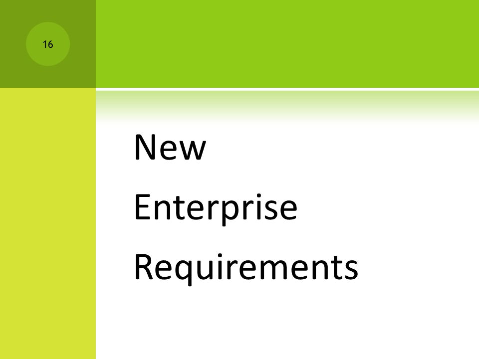 New Enterprise Requirements 16