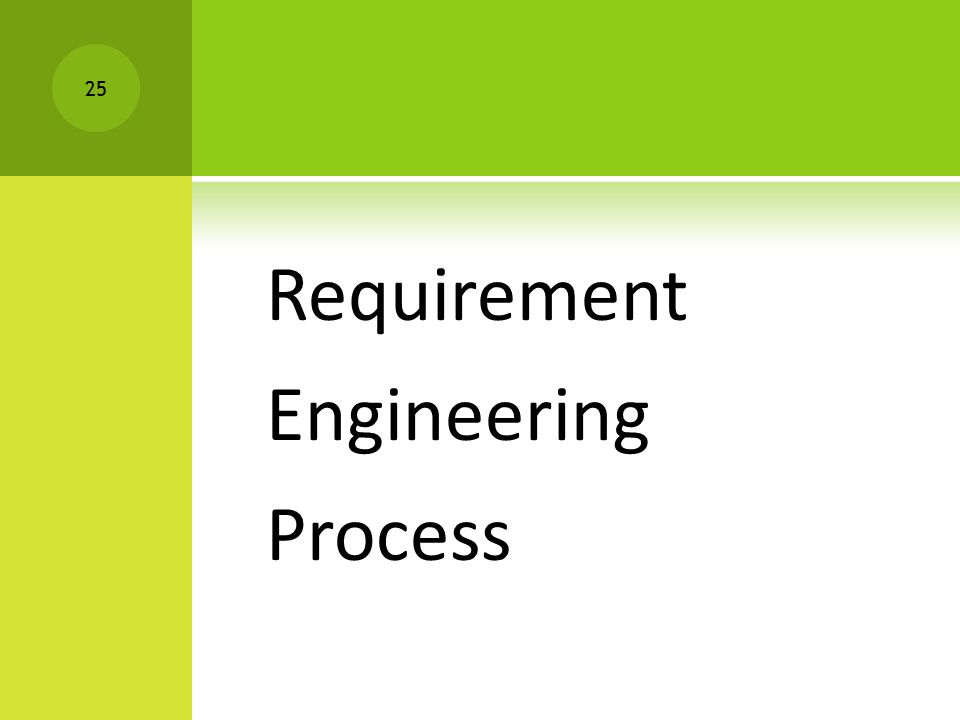 Requirement Engineering Process 25