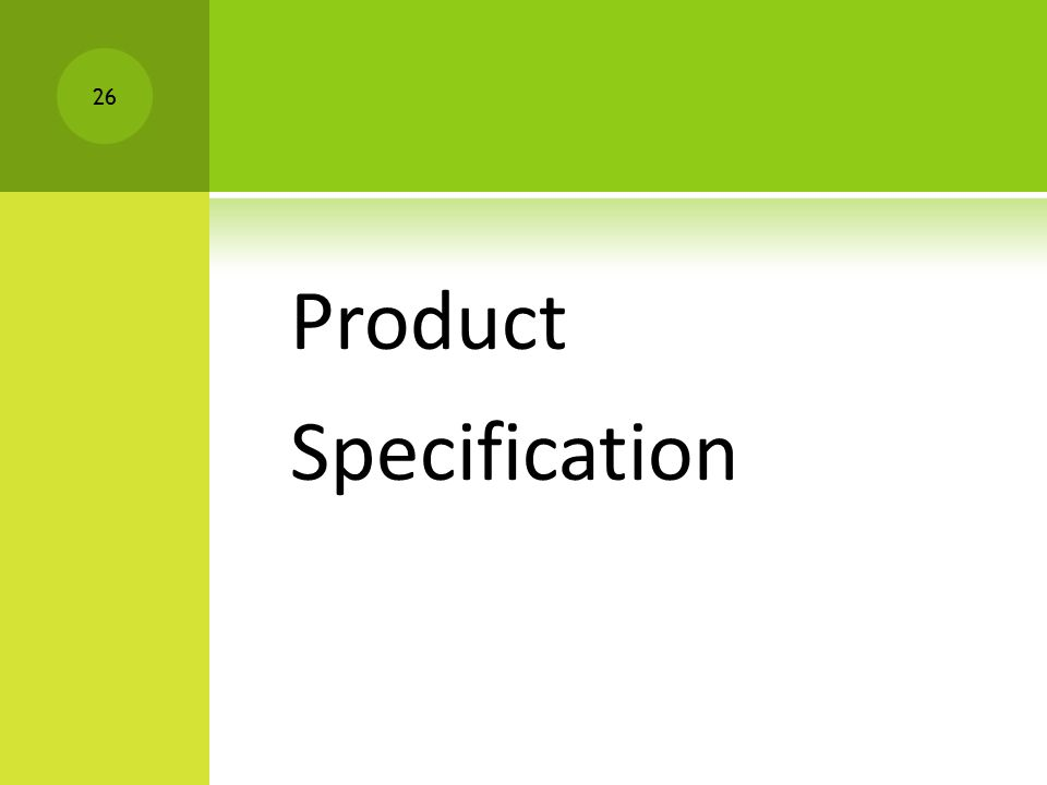 Product Specification 26
