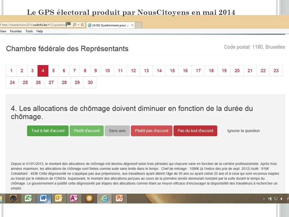 4 Le GPS électoral produit par NousCitoyens en mai 2014