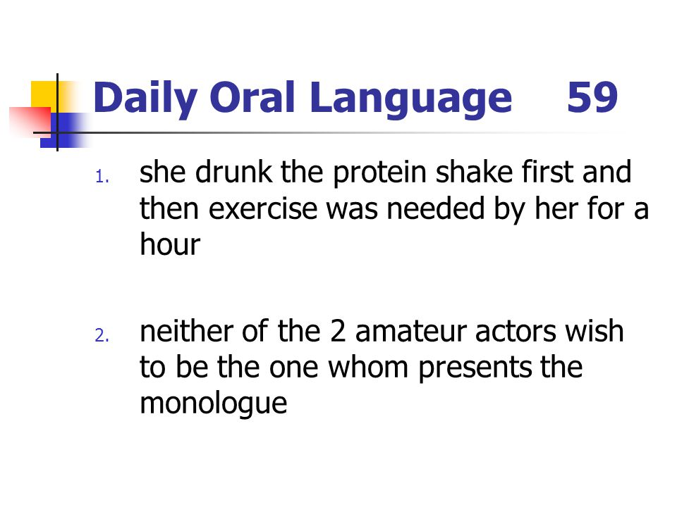 Daily Oral Language59 1.