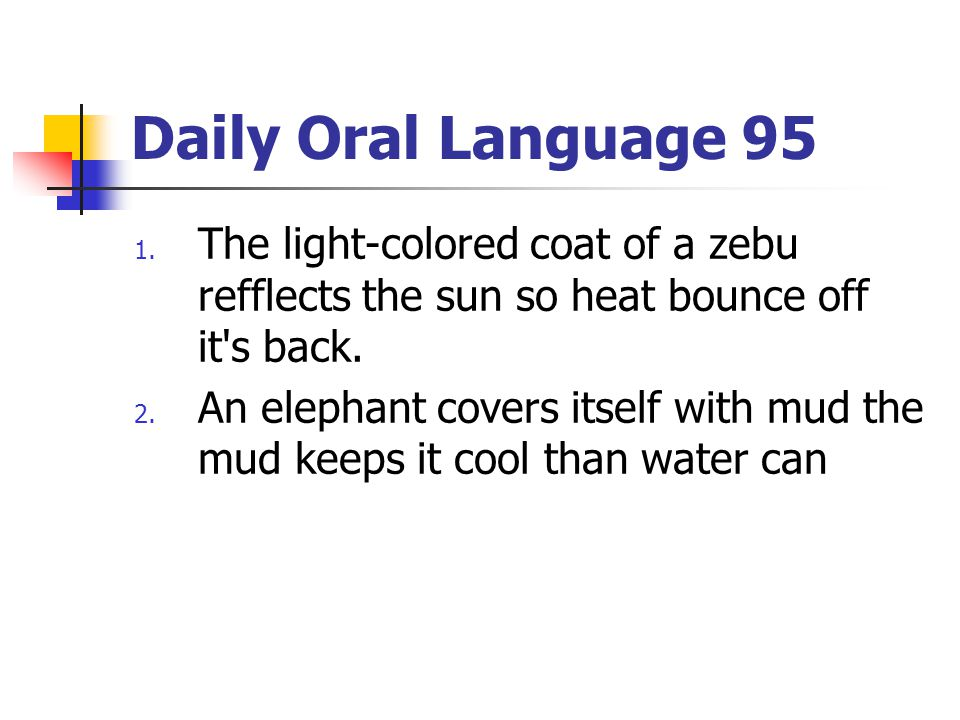 Daily Oral Language 95 1.