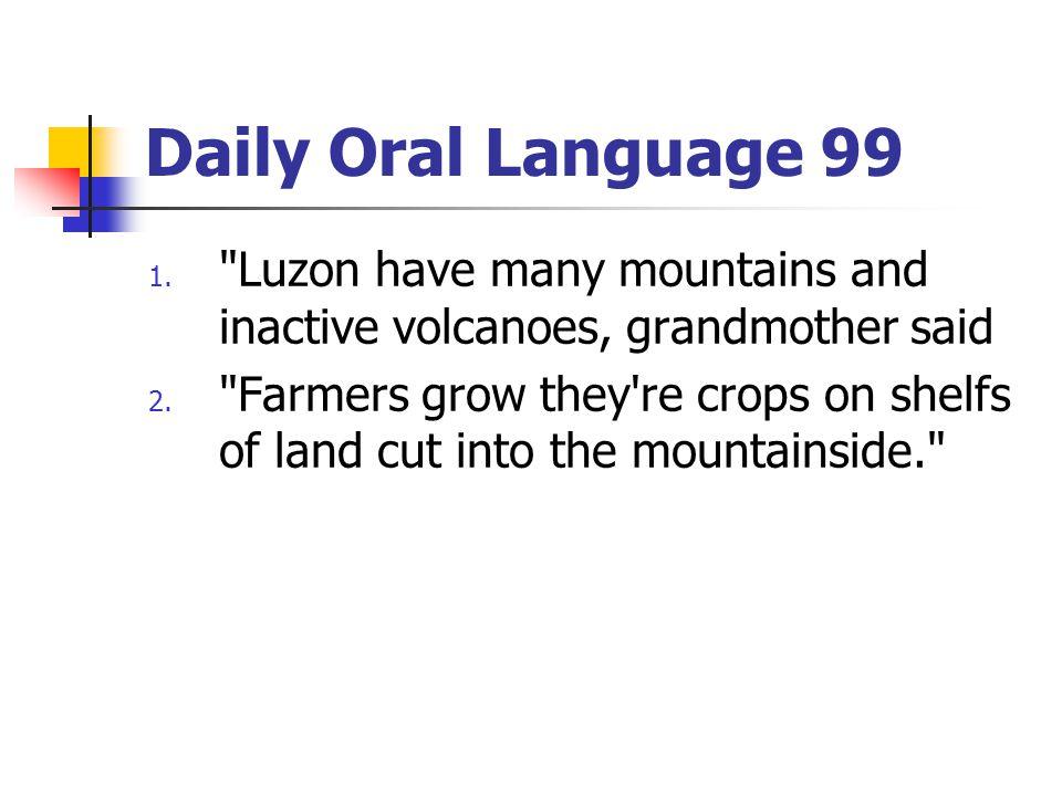 Daily Oral Language 99 1.
