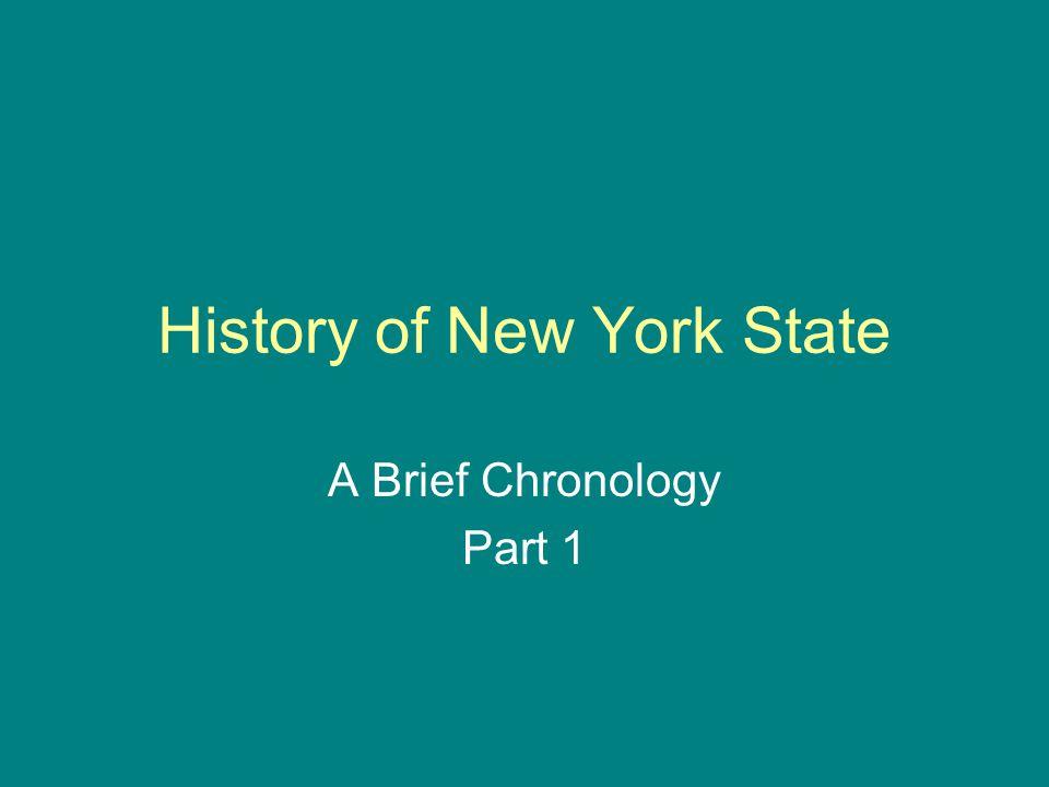 Source Chronology & Documentary Handbook of the State of New York.