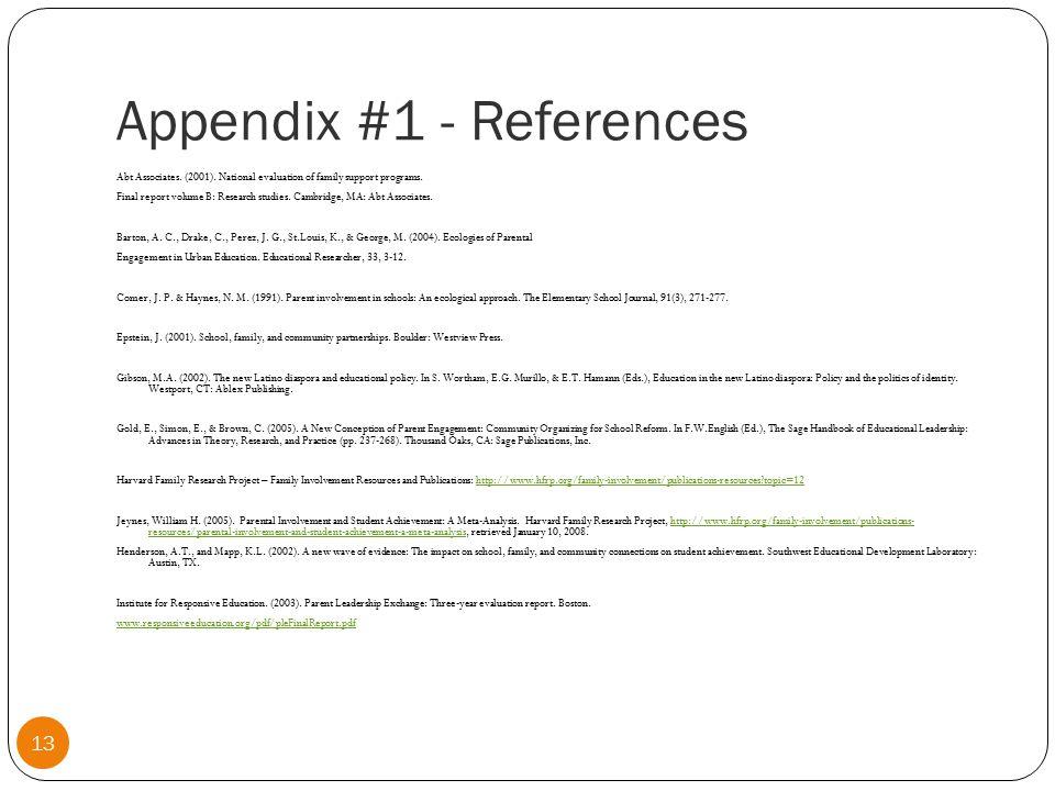 Appendix #2 14