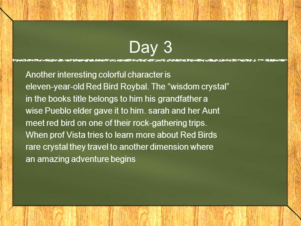 Day 3 Another interesting colorful character is eleven-year-old Red Bird Roybal.