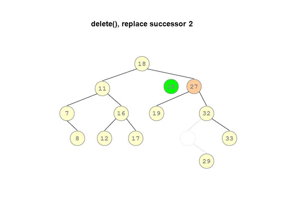 delete(), replace successor 2
