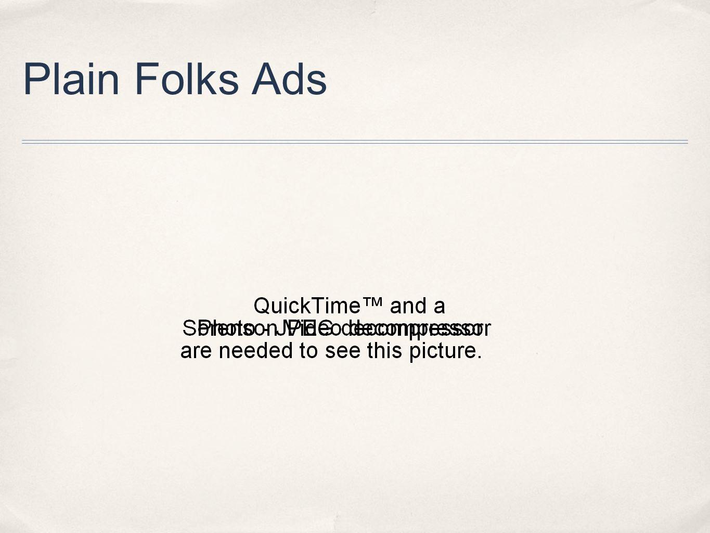 Plain Folks Ads