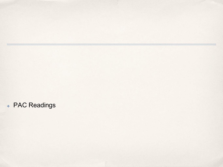 ✤ PAC Readings