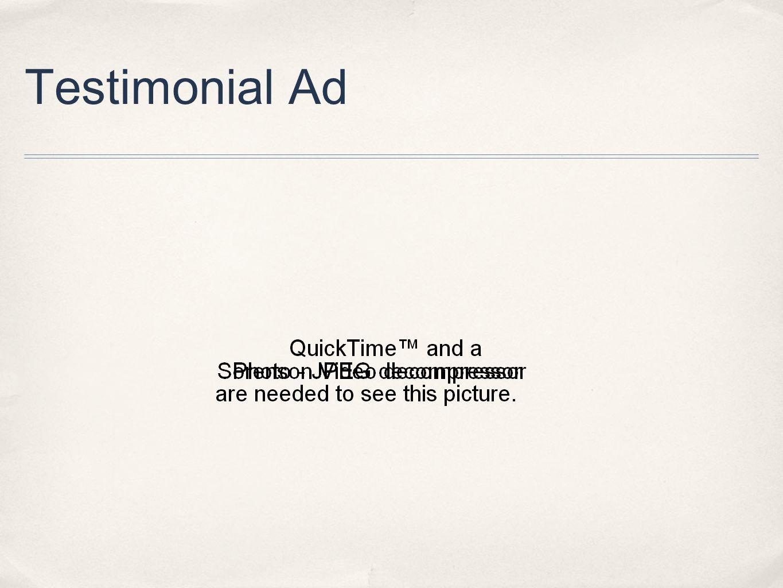 Testimonial Ad
