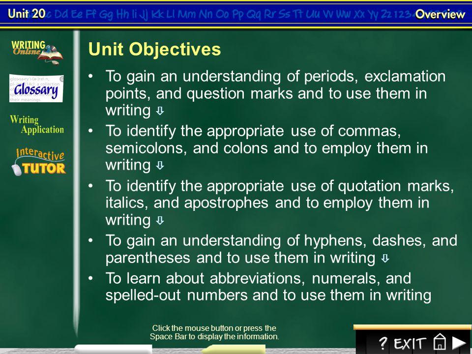 Lesson 4-4 Using Commas III (cont.)