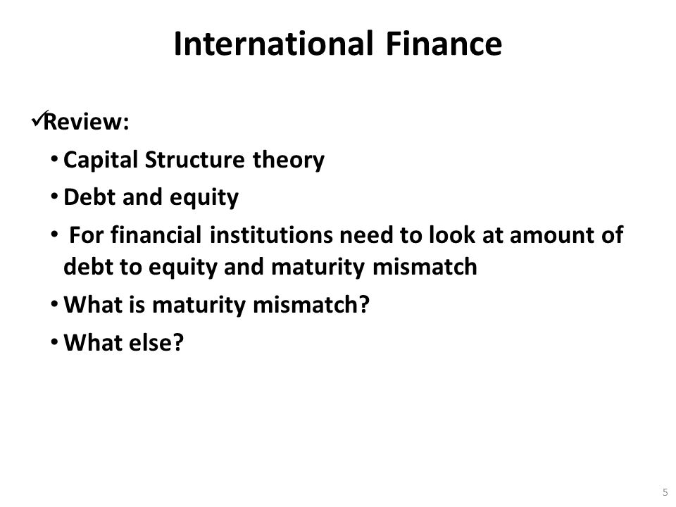 International Finance Review: For smaller firms trading internationally what is usually used to facilitate a transaction .