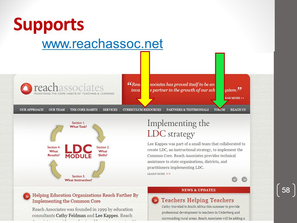 Supports www.reachassoc.net 58