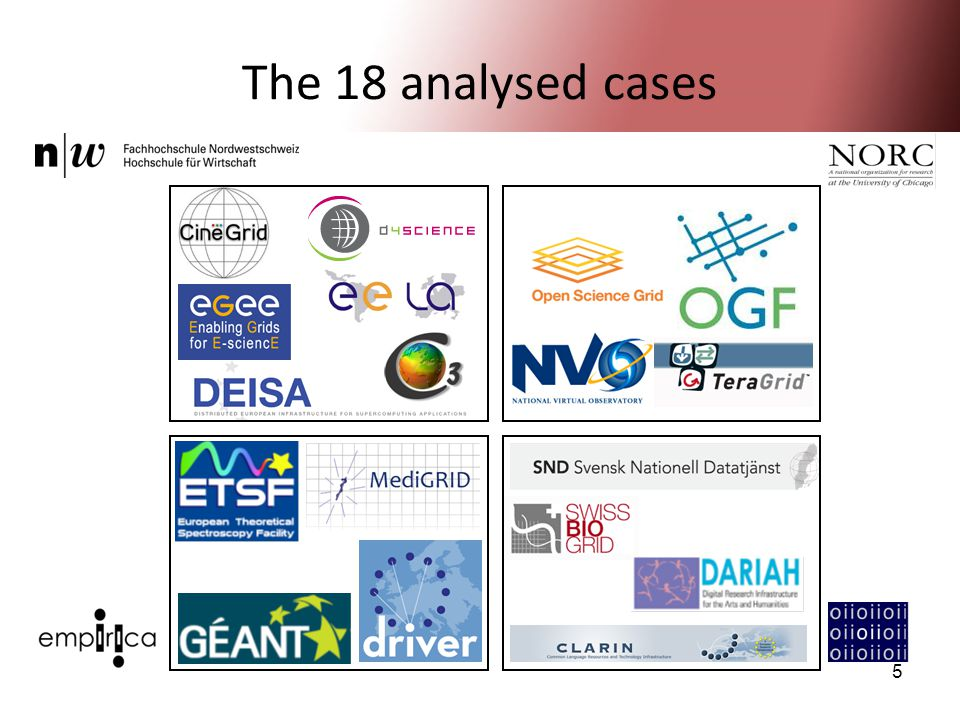 5 The 18 analysed cases